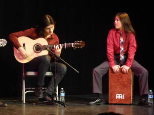 Performing at the Historic Hoover Auditorium for the Flamenco Society of San Jose, 2014