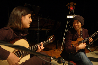 """Performing with Jake Shimabukuro on NPR """"From the Top,"""" Golden State Theater, Monterey, California 2012"""