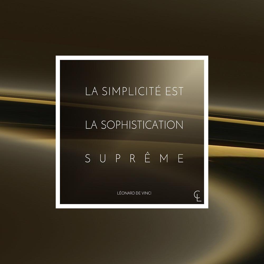 La simplicité est la sophistication suprême léonard de vinci