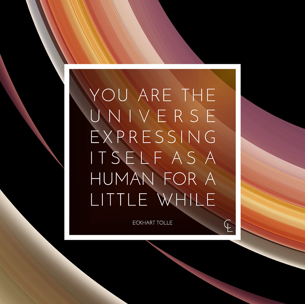 You are the universe expressing itself as a human for a little while