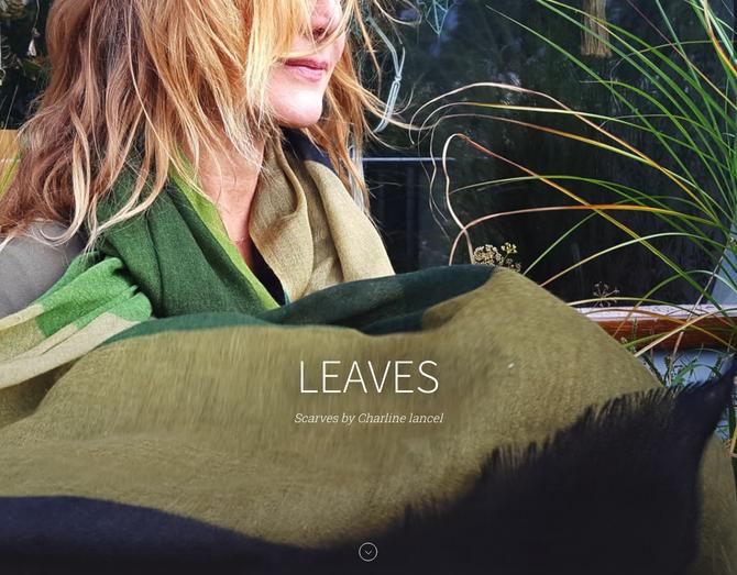 LEAVES Scarves by Charline lancel