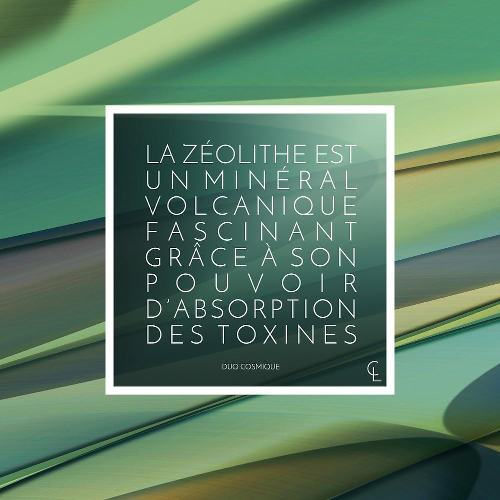 La zéolithe est un minéral volcanique fascinant grâce à son pouvoir d'absorption des toxines.