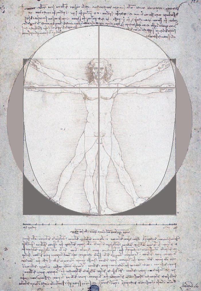 Vitruve Vinci sphérique cubique ovoïdal