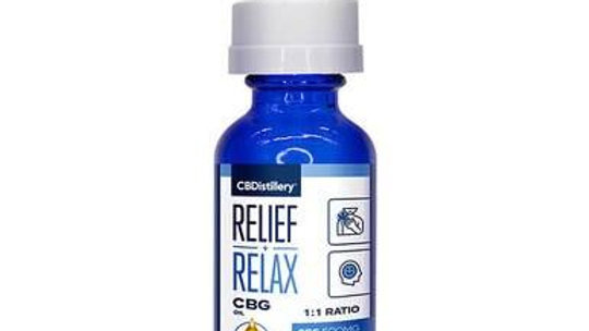 CBDistillery Rx - CBD Tincture - Full Spectrum Relief+Relax CBD+CBG 1:1 - 1000mg