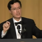 Colbert at the 2006 White House Press Correspondents' Dinner (p. 417)