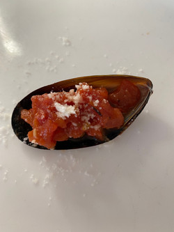 Mussels Fra Diavolo Shots