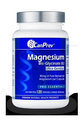 Magnesium Bis-Glycinate 80 (Ultra Gentle)- CanPrev