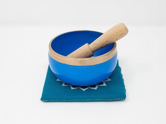 Bright Blue Tibetan Singing Bowl