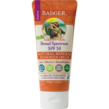 Kids Sunscreen Cream- Badger