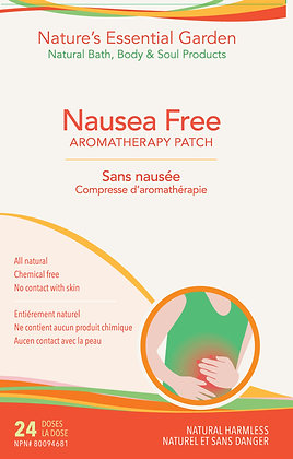 Nausea Free Aromatherapy Patch- Nature's Essential Garden