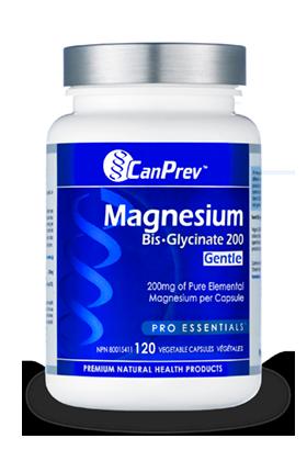 Magnesium Bis-Glycinate 200 (Gentle)- CanPrev
