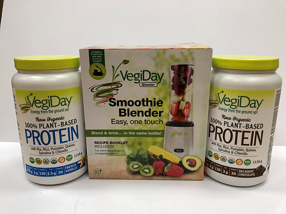 Buy 2 VegiDay Plant-Based Protein Recieve a Free Blender
