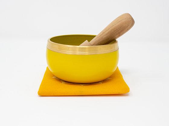Yellow Tibetan Singing Bowl