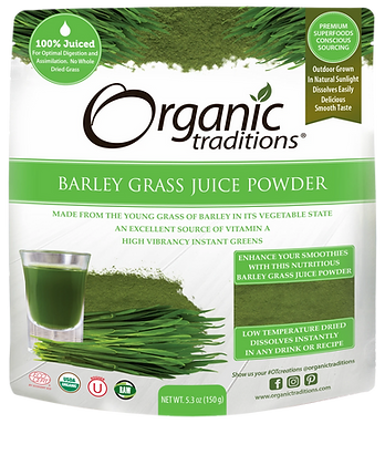 Barley Grass Juice Powder-Organic Traditions