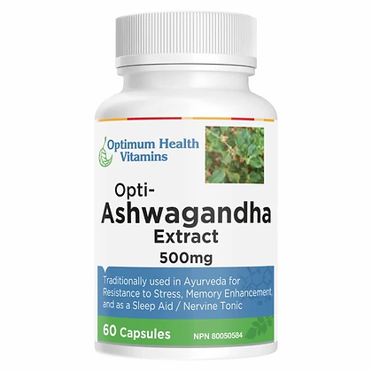 Opti-Ashwagandha Extract- Optimum Health Vitamins