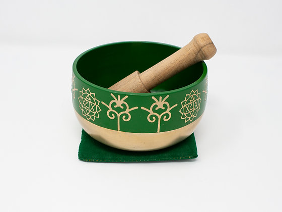 Green Tibetan Singing Bowl- Medium