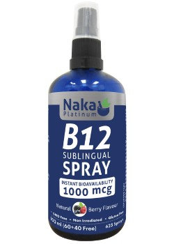 B12 Sublingual Spray- Naka Platinum