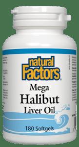 Mega Halibut Liver Oil- Natural Factors