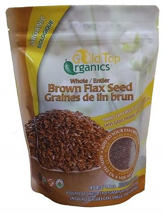 Whole Flax Seed- Gold Top Organics