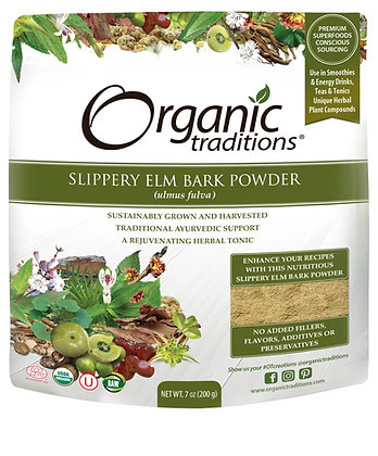 Slippery Elm Bark Powder- Organic Traditions