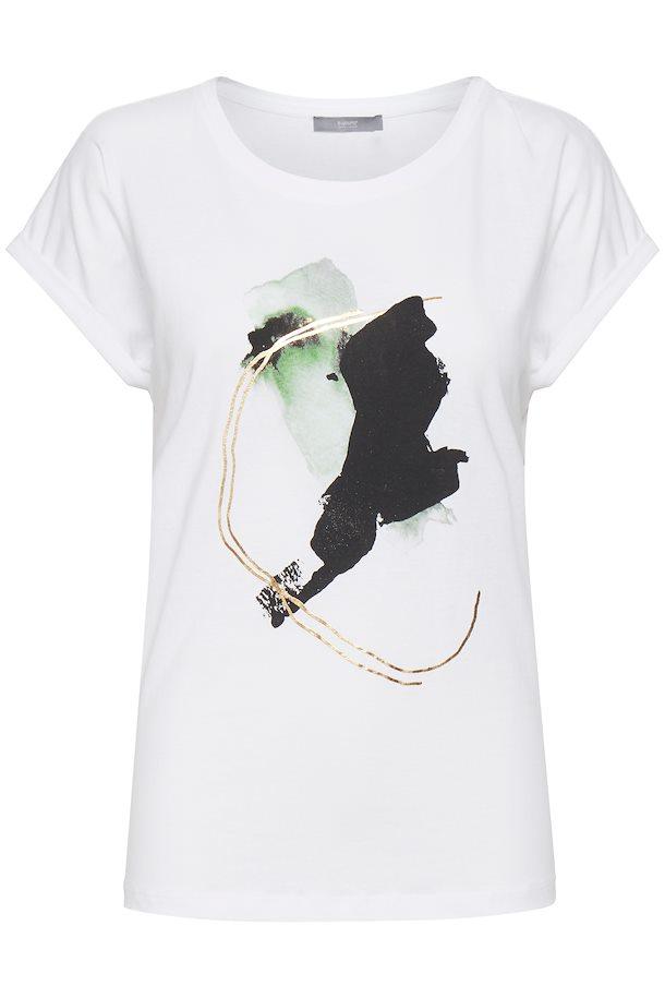 Camiseta BYOUNG Sanla blanco con print m
