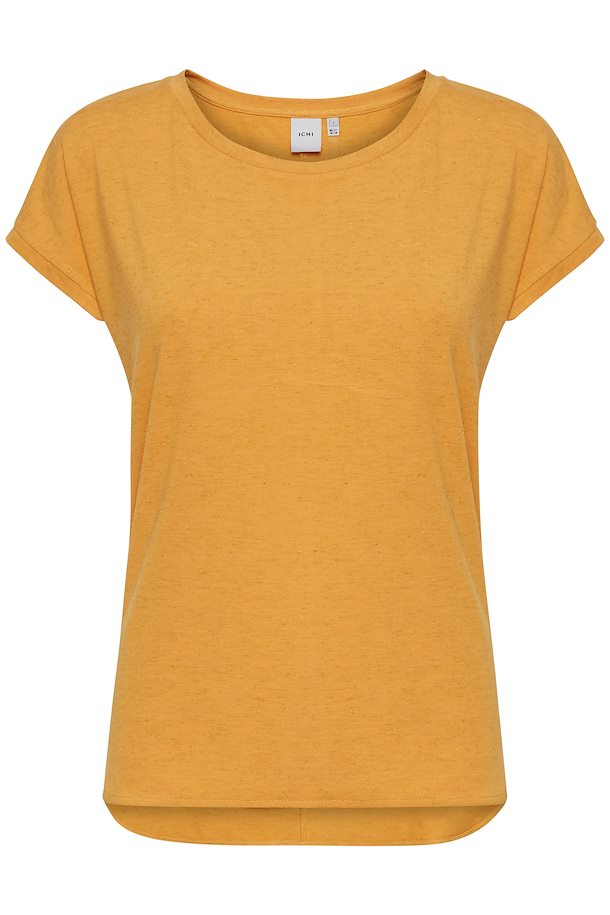 Camiseta ICHI Rebel naranja con brillos