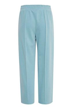 Pantalón ICHI Kate Pique turquesa ancho