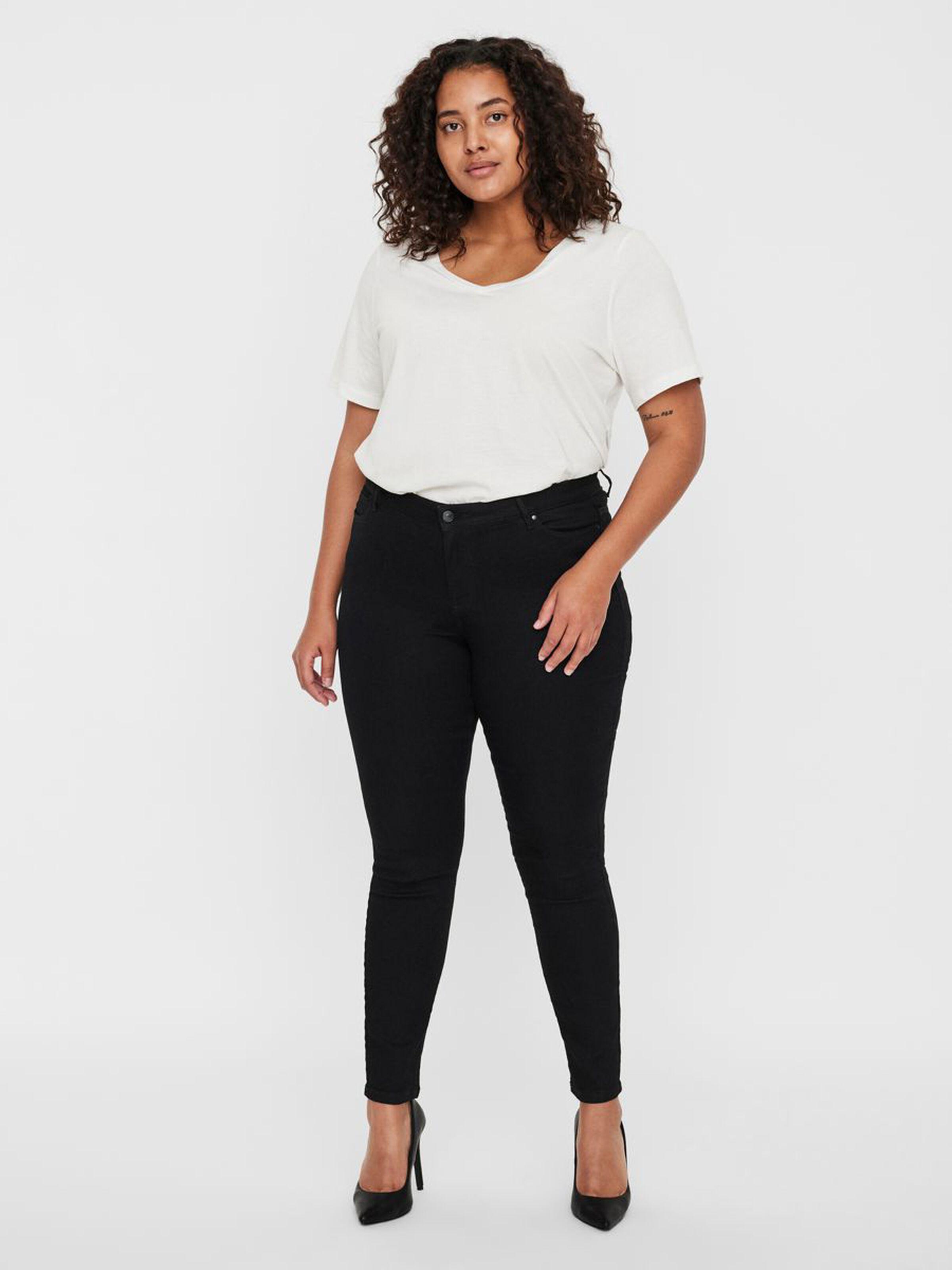 Pantalón Vero Moda Curve negro Judy tiro