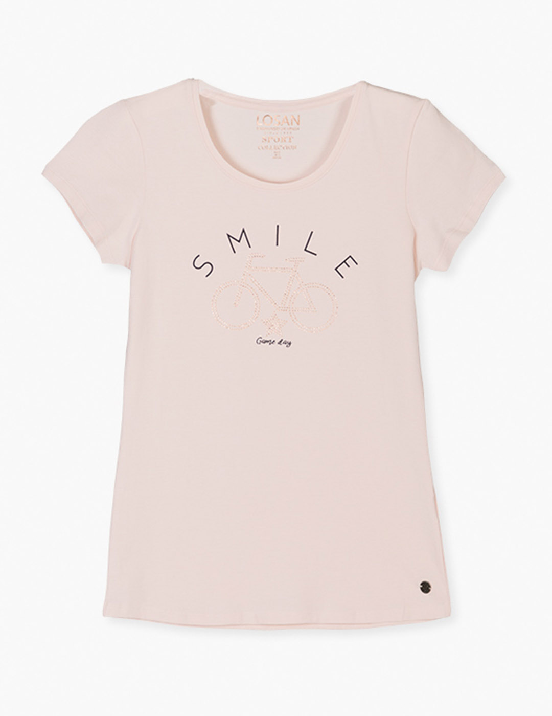 Camiseta salmon estampada Losan para muj