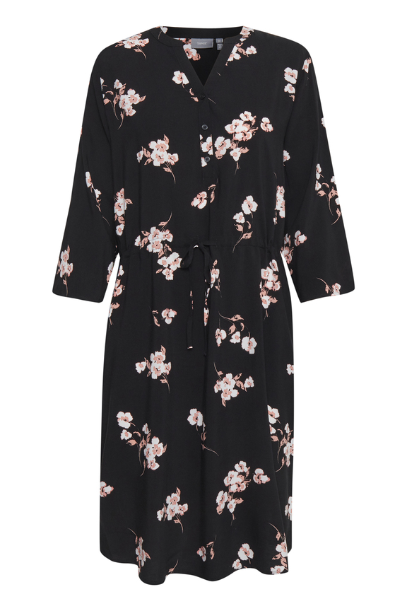 Vestido floral Byoung negro 20807853 (4)