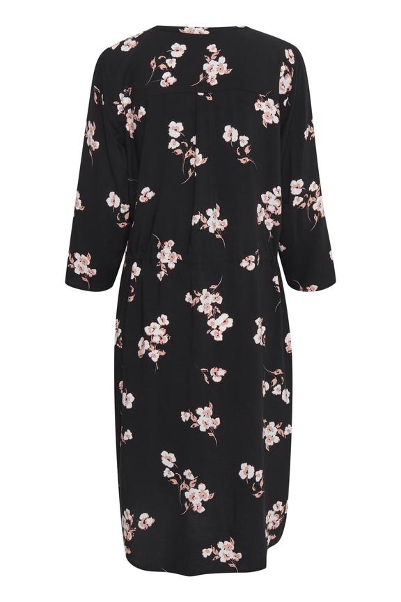 Vestido floral Byoung negro 20807853 (3)