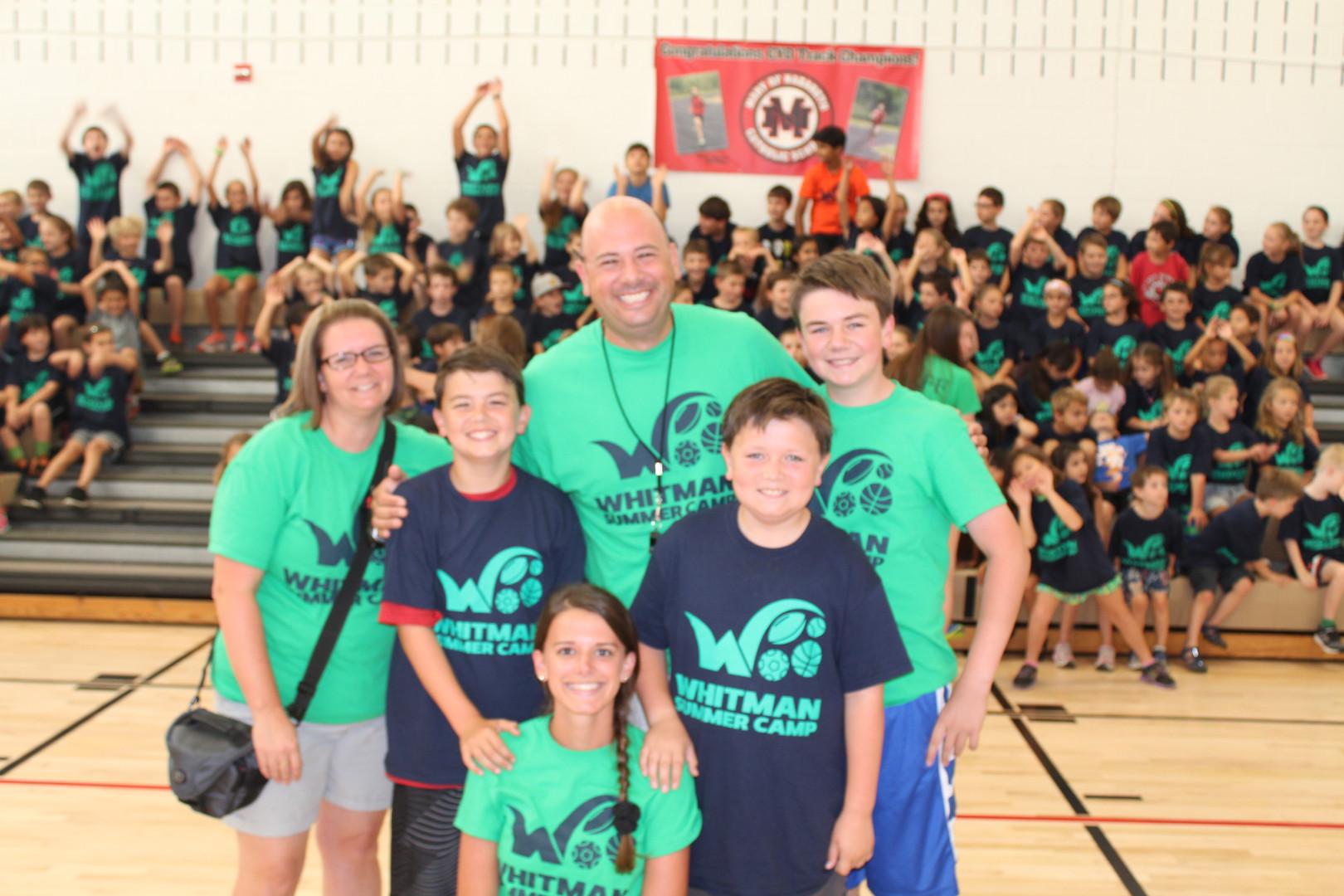 Whitman Summer Camp - Whitman Family Pic 2016