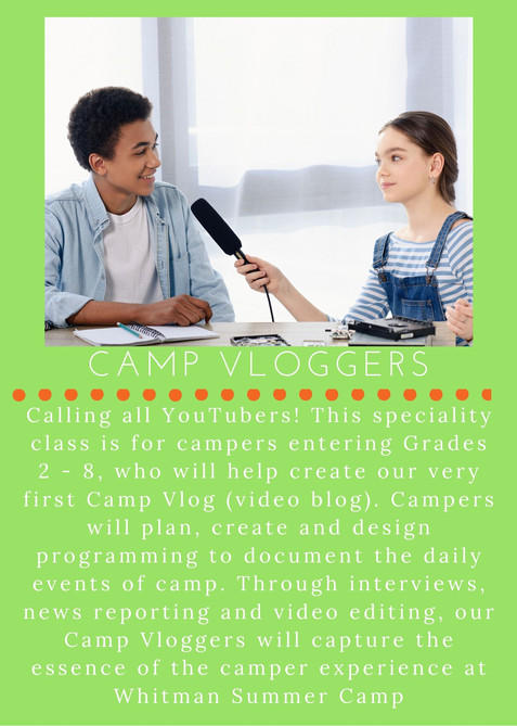 Camp Vloggers - NEW