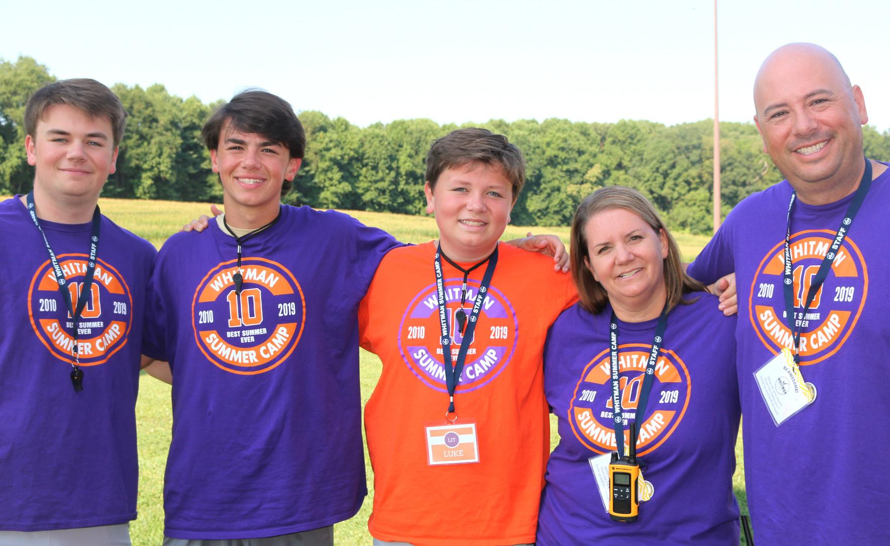Whitman Summer Camp - Whitman Family Pic 2019