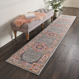 Nourison-Passion-Grey-Medallion-Runner-R