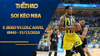 Kèo bóng rổ – Fenerbahce Beko vs LDLC ASVEL – 0h45 – 31/12/2020