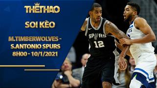 Kèo bóng rổ – Minnesota Timberwolves vs San Antonio Spurs – 8h00 – 10/1/2021