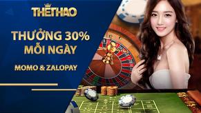 ST666 THƯỞNG 30% MOMO & ZALOPAY MỖI NGÀY