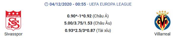 Soi kèo - Sivasspor vs Villarreal - kubets.net