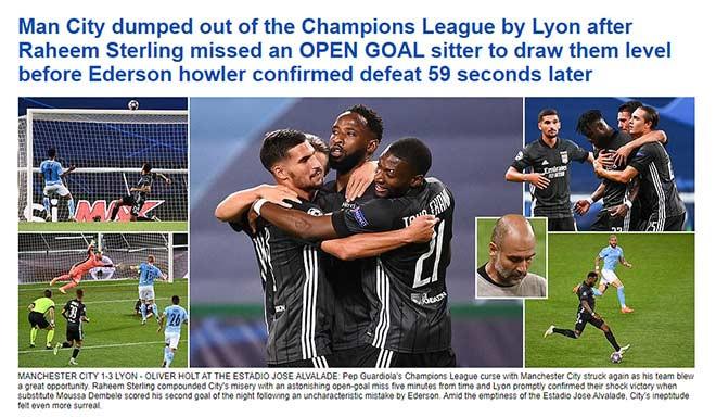 Daily Mail nhấn mạnh pha bỏ lỡ của Sterling trên tiêu đề lớn |Vua-the-thao