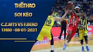 Kèo bóng rổ – Crvena zvezda mts vs Fenerbahce Beko – 1h00 – 8/1/2021
