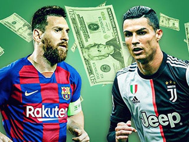 Messi vẫn đắt giá gần gấp đôi Ronaldo