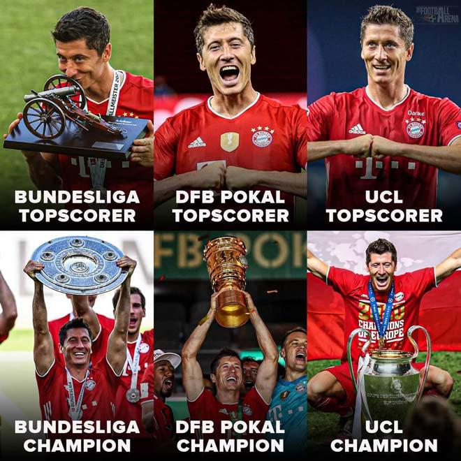 """Tiền đạo người Ba Lan giành""""Vua phá lưới"""" ở 3 giải đấu mà Bayern vô địch"""