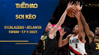 Kèo bóng rổ – Portland Trail Blazers vs Atlanta Hawks – 10h00 – 17/1/2021