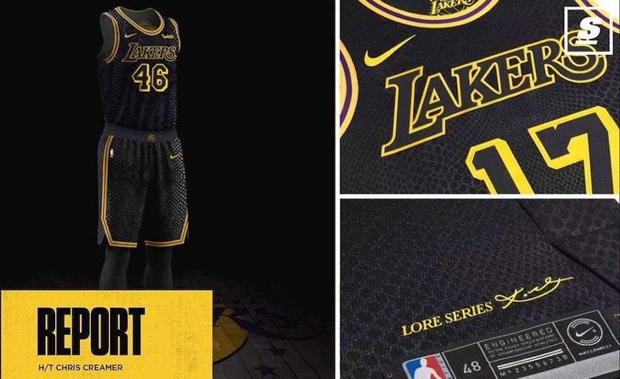Trang phục các cầu thủ Lakers sử dụng trong game 4