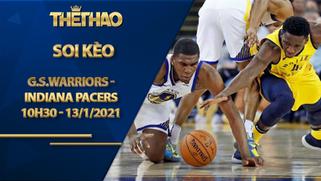 Kèo bóng rổ – Golden State Warriors vs Indiana Pacers – 10h30 – 13/1/2021