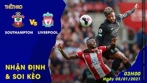 Nhận định – Soi kèo Southampton vs Liverpool 03h00 - 05/01/2021