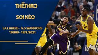 Kèo bóng rổ – LA Lakers vs Golden State Warriors – 10h00 – 19/1/2021