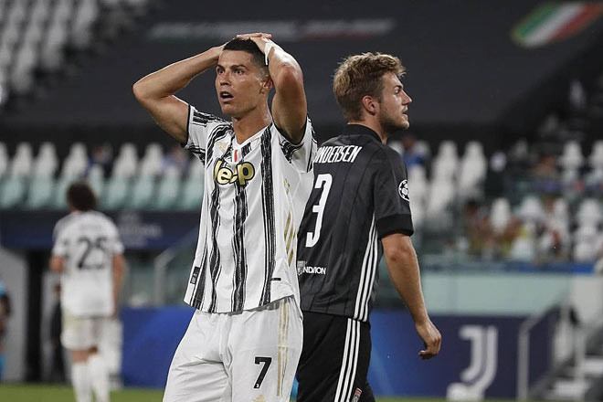 Ronaldo đã ghi 2 bàn vào lưới Lyon nhưng Juventus vẫn bị loại ở Champions League |Vua-the-thao