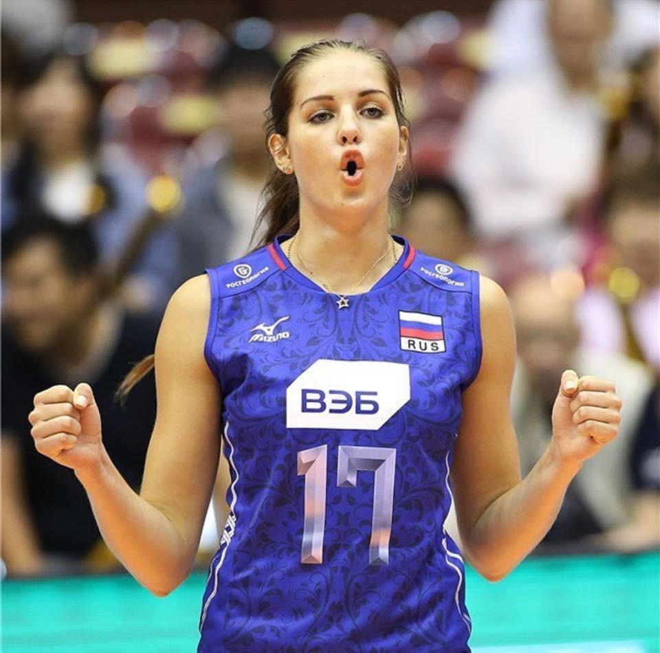 Natalia Malykh - trụ cột của đội tuyển bóng chuyền nữ nước Nga. |JP88